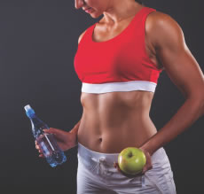 Person Apple And Water